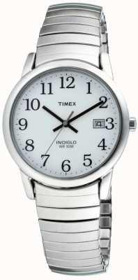 Timex Pulseira expansível de leitor fácil de herança masculina T2H451
