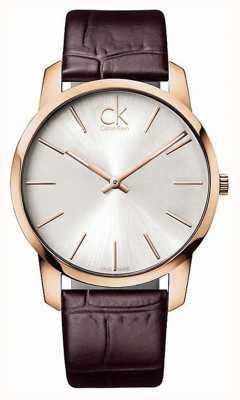 Calvin Klein Estojo de prata rosa para homens de prata K2G21629