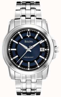 Bulova Relógio de precisão azul prata para homem 96B159