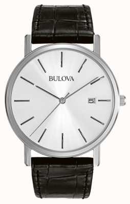Bulova Vestido para homens prata preto 96B104