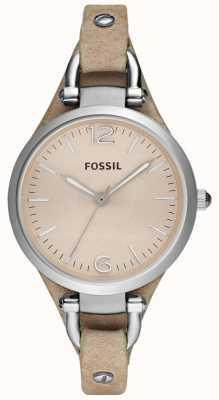 Fossil Bracelete de couro analógico feminino ES2830