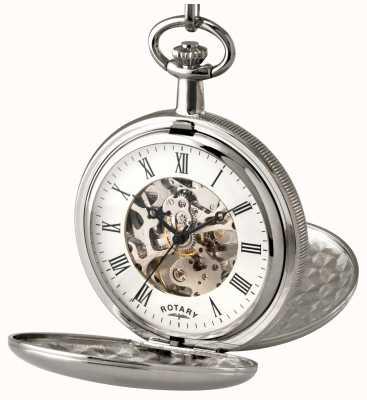 Rotary Relógio de bolso esqueleto de aço inoxidável de Gent MP00726/01