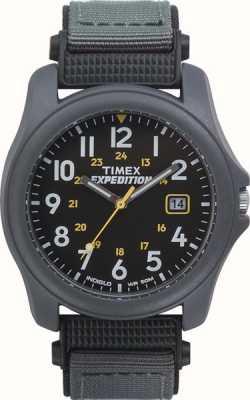 Timex Mens expedição cinza escuro face nylon strap watch T42571
