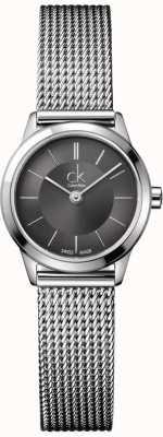 Calvin Klein Bracelete feminino de aço inoxidável com padrões de corda K3M23124