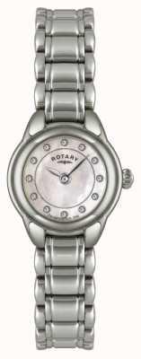 Rotary Relógio de aço inoxidável de pedra para mulheres LB02601/07