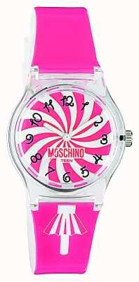 Moschino Relógio de cintura rosa feminino MW0321