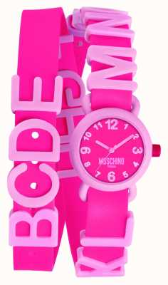 Moschino Relógio rosa vibrante para mulheres MW0327