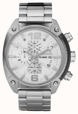 Diesel Mens cronógrafo relógio de aço inoxidável pulseira DZ4203