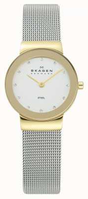 Skagen Relógio de pulseira de malha de prata 358SGSCD