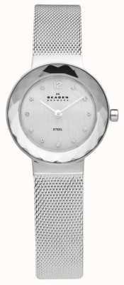 Skagen Relógio de pulseira de malha de aço para mulheres 456SSS