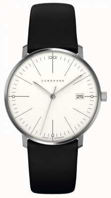 Junghans Max bill womens | pulseira de couro preto | 047/4251.00