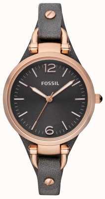 Fossil Relógio analógico de pulseira de couro feminino ES3077