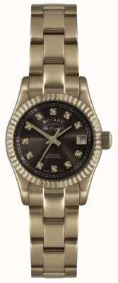 Rotary Expositor de relógio feminino rosa dourado les originales verbier LB08153/16EX-DISPLAY