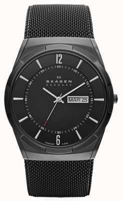 Skagen Mens aktiv black ion-plated titanium black dial watch SKW6006