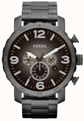 Fossil Cronógrafo de aço inoxidável para homens e mulheres JR1437