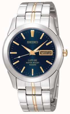 Seiko Midnight blue dial ouro detalhe aço inoxidável SGGA61P1