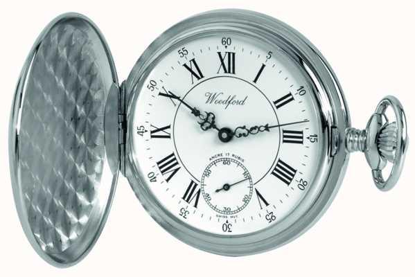 Woodford | caçador completo | acabamento cromado | relógio de bolso | 1012
