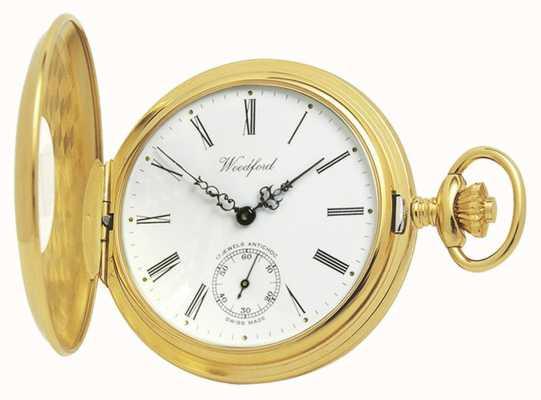 Woodford | meio caçador | banhado a ouro | relógio de bolso | 1015