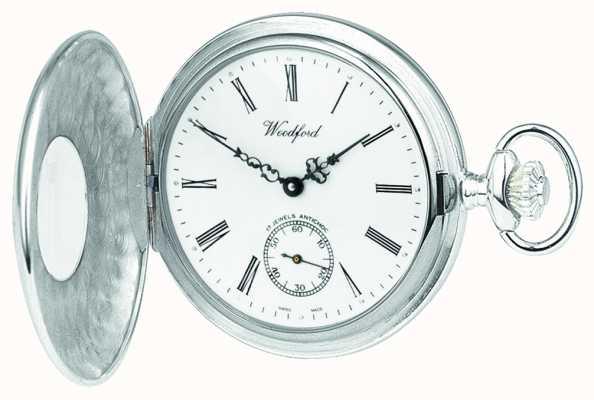Woodford | meio caçador | prata esterlina | relógio de bolso | 1005