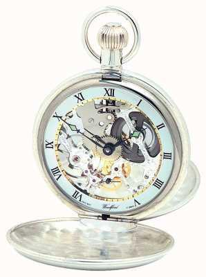 Woodford Pocketwatch de tampa dupla de prata 1065