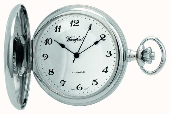 Woodford | caçador completo | cromado | relógio de bolso | 1027