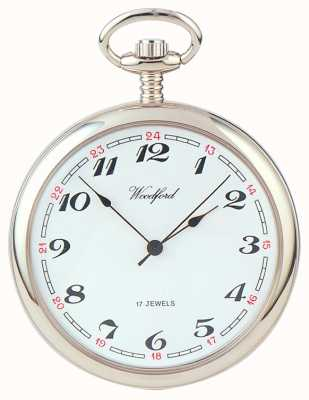Woodford | rosto aberto | cromado | relógio de bolso | 1023