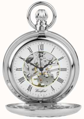 Woodford Relógio de bolso de aço inoxidável 1052