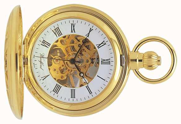 Woodford | esqueleto caçador | banhado a ouro cortado | relógio de bolso | 1029