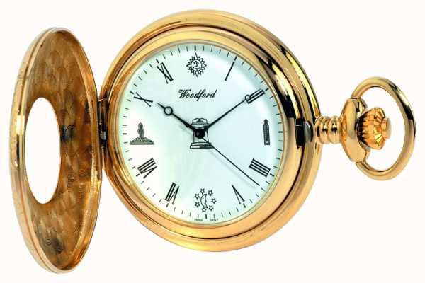 Woodford Relógio de bolso semi-caçador de homens 1213