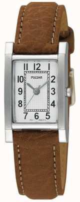 Pulsar Relógio de couro em couro de aço inoxidável para mulher PC3163X1