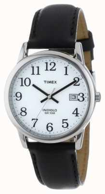 Timex Mens white black easy reader watch T2H281