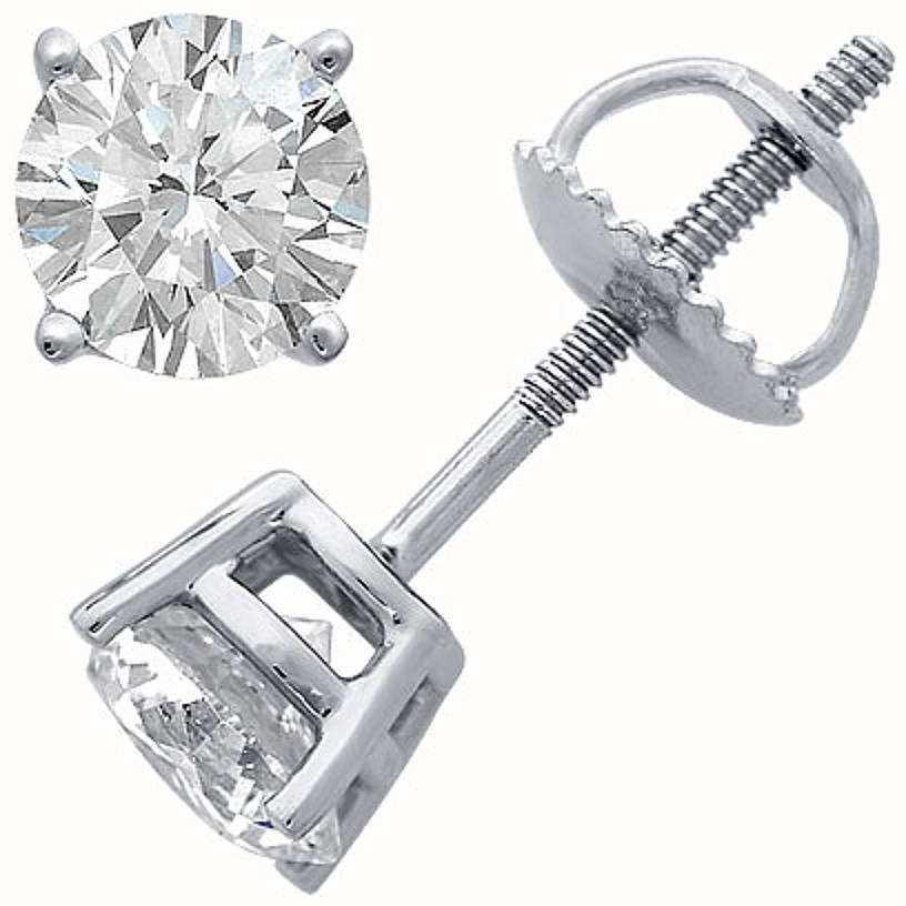 Certified Diamond Earrings C33PT-4CLAW-HSI