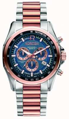 Roamer Mens rockshell de aço inoxidável e relógio de ouro rosa 220837494520