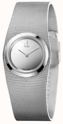 Calvin Klein Relógio impulsivo de senhora | cinta de malha de aço inoxidável | K3T23128