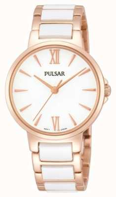 Pulsar Ladies 'rose white classic dress watch PH8078X1