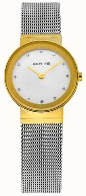 Bering Malha clássica de ouro e prata do tempo 10122-001