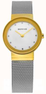 Bering Relógio de malha de prata 10126-001