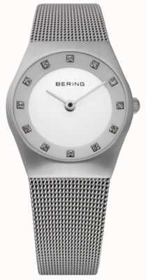 Bering Relógio minimalista de senhora | pulseira de malha de aço inoxidável | 11927-000