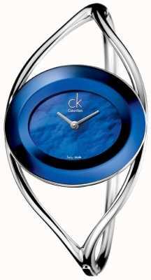 Calvin Klein Felicidade feminina, madrepérola azul (média) K1A2481E