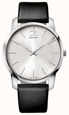 Calvin Klein Bracelete preto minimalista para homem, relógio de cidade K2G211C6