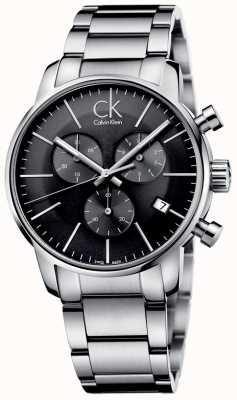 Calvin Klein Mens city aço inoxidável cinza relógio de discagem K2G27143