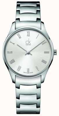 Calvin Klein Relógio feminino clássico de aço inoxidável K4D2214Z