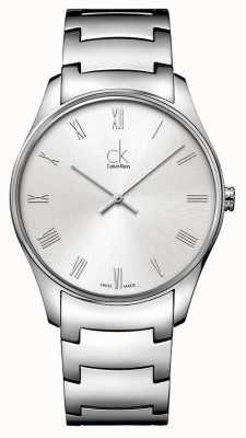Calvin Klein Mens clássico relógio de prata K4D2114Z