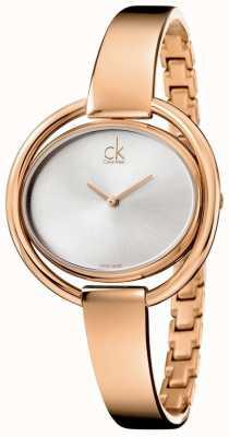 Calvin Klein Relógio feminino impetuoso K4F2N616
