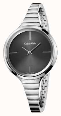 Calvin Klein Relógio preto de prata preto das senhoras K4U23121