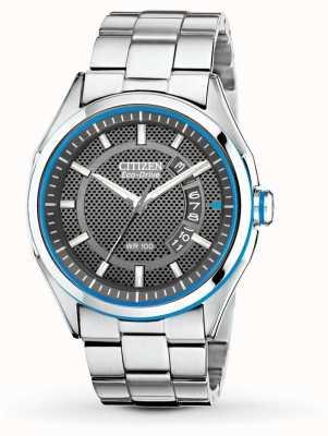 Citizen Mens eco drive htm pulseira de aço inoxidável data relógio AW1141-59E