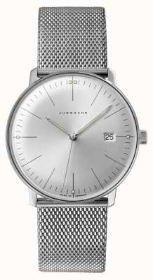 Junghans Mens max bill relógio de aço inoxidável 041/4463.48