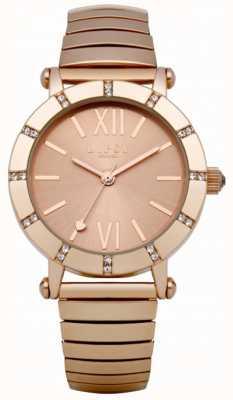 Lipsy Relógio de pulseira de ouro Rose Expander LP100