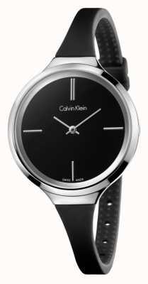 Calvin Klein Coroa de silicone preta e viva das mulheres K4U231B1