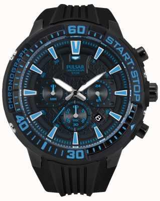 Pulsar Mens x cronógrafo preto e azul PT3507X1